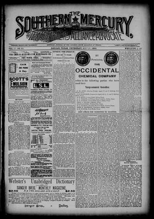 The Southern Mercury, Texas Farmers' Alliance Advocate. (Dallas, Tex.), Vol. 9, No. 20, Ed. 1 Thursday, May 15, 1890