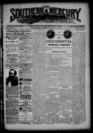 The Southern Mercury, Texas Farmers' Alliance Advocate. (Dallas, Tex.), Vol. 9, No. 34, Ed. 1 Thursday, August 21, 1890