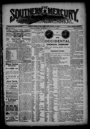 The Southern Mercury, Texas Farmers' Alliance Advocate. (Dallas, Tex.), Vol. 9, No. 35, Ed. 1 Thursday, August 28, 1890