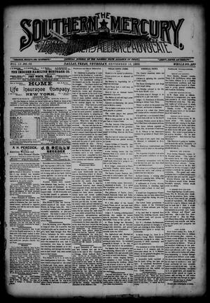 The Southern Mercury, Texas Farmers' Alliance Advocate. (Dallas, Tex.), Vol. 9, No. 38, Ed. 1 Thursday, September 18, 1890