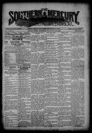 The Southern Mercury, Texas Farmers' Alliance Advocate. (Dallas, Tex.), Vol. 9, No. 39, Ed. 1 Thursday, September 25, 1890