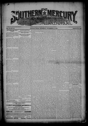 Primary view of object titled 'The Southern Mercury, Texas Farmers' Alliance Advocate. (Dallas, Tex.), Vol. 9, No. 46, Ed. 1 Thursday, November 13, 1890'.