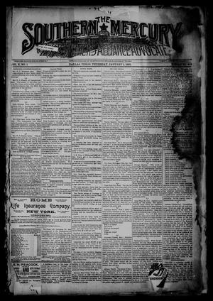 Primary view of object titled 'The Southern Mercury, Texas Farmers' Alliance Advocate. (Dallas, Tex.), Vol. 10, No. 1, Ed. 1 Thursday, January 1, 1891'.