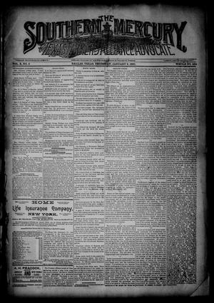 The Southern Mercury, Texas Farmers' Alliance Advocate. (Dallas, Tex.), Vol. 10, No. 2, Ed. 1 Thursday, January 8, 1891