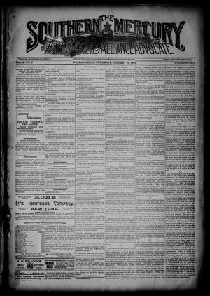 The Southern Mercury, Texas Farmers' Alliance Advocate. (Dallas, Tex.), Vol. 10, No. 3, Ed. 1 Thursday, January 15, 1891