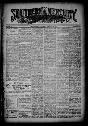 The Southern Mercury, Texas Farmers' Alliance Advocate. (Dallas, Tex.), Vol. 10, No. 4, Ed. 1 Thursday, January 22, 1891
