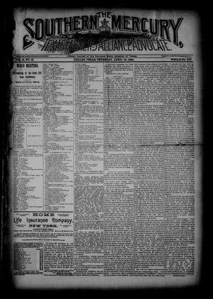 The Southern Mercury, Texas Farmers' Alliance Advocate. (Dallas, Tex.), Vol. 10, No. 18, Ed. 1 Thursday, April 30, 1891