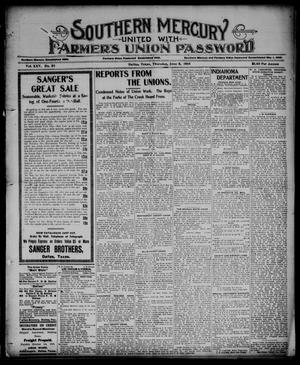 Southern Mercury United with the Farmers Union Password. (Dallas, Tex.), Vol. 25, No. 23, Ed. 1 Thursday, June 8, 1905
