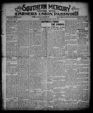 Southern Mercury United with the Farmers Union Password. (Dallas, Tex.), Vol. 25, No. 24, Ed. 1 Thursday, June 15, 1905
