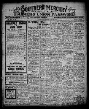 Southern Mercury United with the Farmers Union Password. (Dallas, Tex.), Vol. 25, No. 25, Ed. 1 Thursday, June 22, 1905