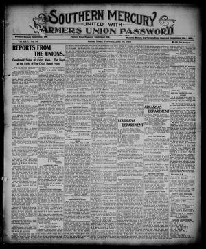 Southern Mercury United with the Farmers Union Password. (Dallas, Tex.), Vol. 25, No. 26, Ed. 1 Thursday, June 29, 1905