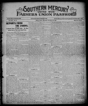 Southern Mercury United with the Farmers Union Password. (Dallas, Tex.), Vol. 25, No. 51, Ed. 1 Thursday, December 21, 1905