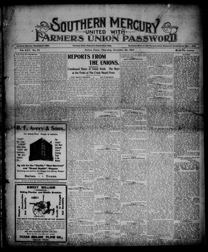 Southern Mercury United with the Farmers Union Password. (Dallas, Tex.), Vol. 25, No. 52, Ed. 1 Thursday, December 28, 1905