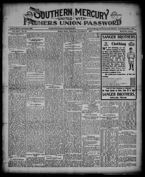 Southern Mercury United with the Farmers Union Password. (Dallas, Tex.), Vol. 26, No. 49, Ed. 1 Thursday, November 8, 1906