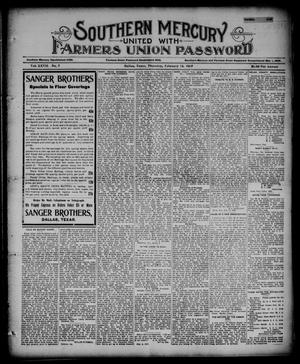 Southern Mercury United with the Farmers Union Password. (Dallas, Tex.), Vol. 27, No. 7, Ed. 1 Thursday, February 14, 1907