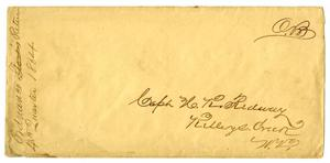Primary view of object titled '[Envelope, 1864]'.