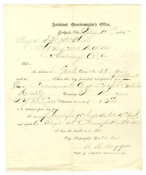 Primary view of [Letter from Capt. H. H. Boggess to Major McPhail, February 15, 1865]