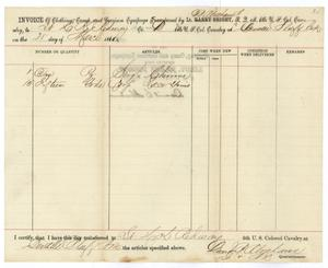 Primary view of object titled '[Invoice of Supplies from D. B. Abrahams]'.