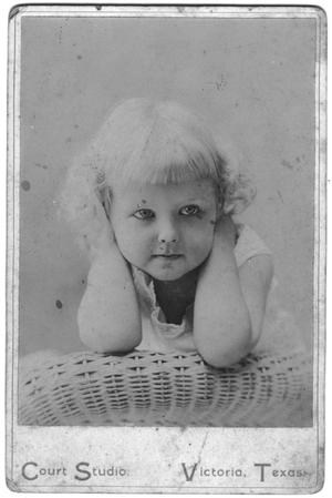 Primary view of object titled '[Childhood Portrait of Mary Van den Berge Hill]'.