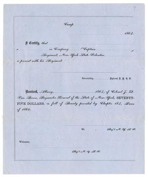 Primary view of object titled '[Blank Certification of Receipt Form]'.