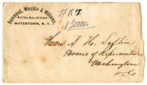 Primary view of object titled '[Envelope, June 26, 1868]'.