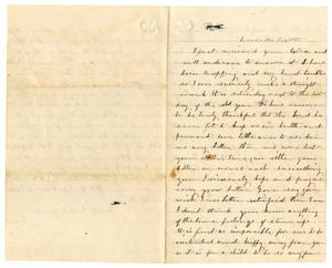 Primary view of [Letter from Loriette C. Redway, December 30, 1865]