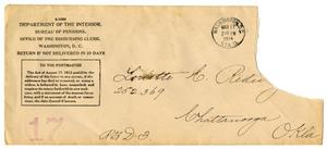 Primary view of object titled '[Envelope addressed to Loriette C. Redway, March 17, 1914]'.