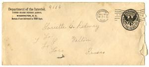 Primary view of object titled '[Envelope for Loriette C. Redway, December 10, 1906]'.