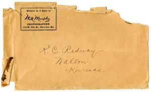 Primary view of object titled '[Envelope to R. C. Redway from Will Murphy]'.