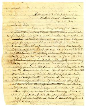 [Letter from Hamilton K. Redway to Loriette C. Redway, October 20, 1864]