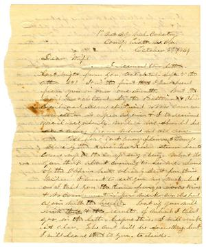 Primary view of object titled '[Letter from Hamilton K. Redway to Loriette C. Redway, October 3, 1864]'.
