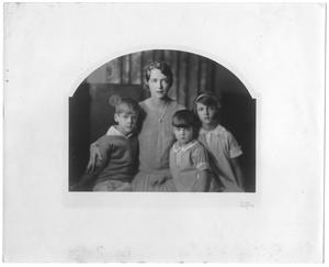 [Mary Van den Berge Hill with children, George, Raymond and Joanne]