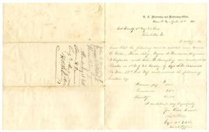 Primary view of object titled '[Letter from Austin A, Yates, April 12, 1865]'.