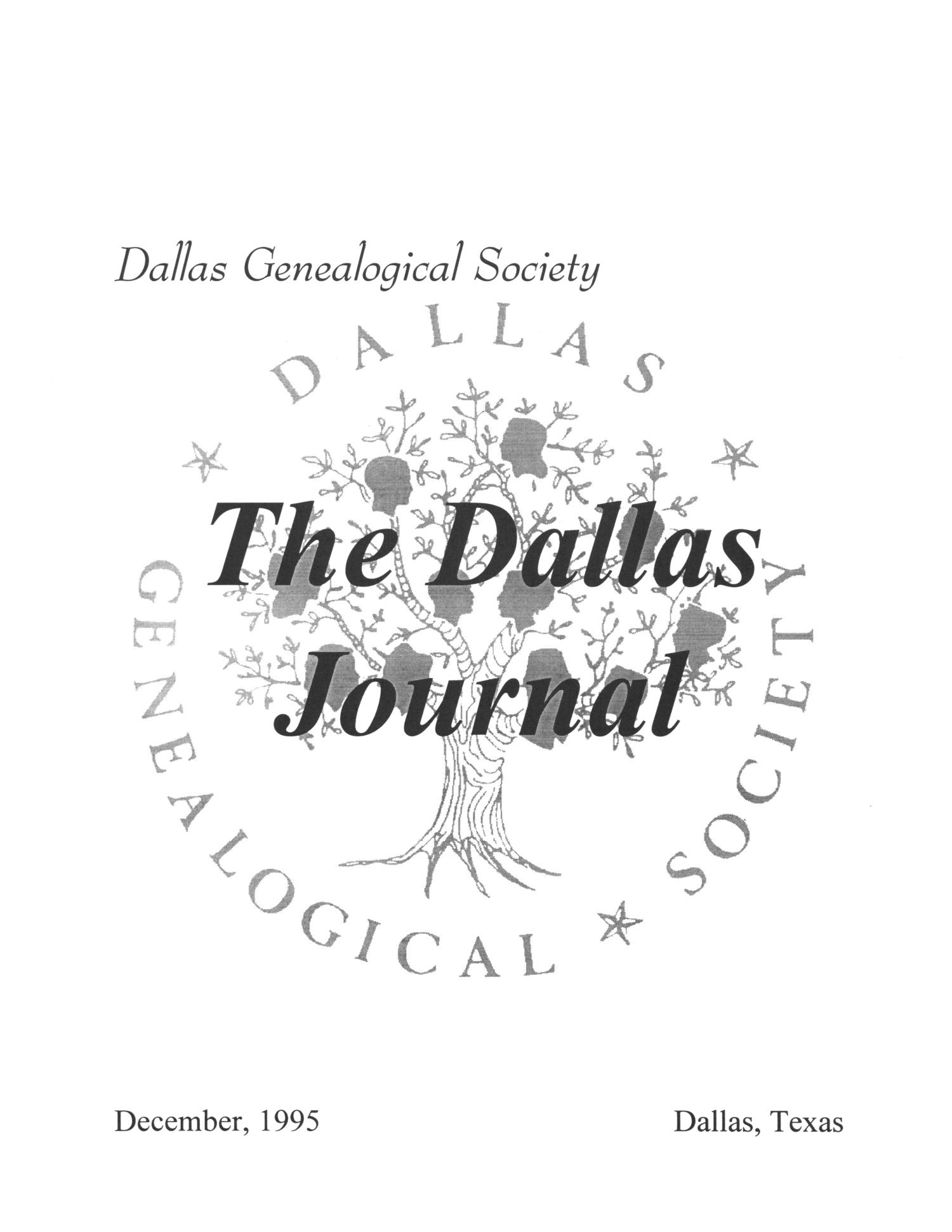 The Dallas Journal, Volume 41, 1995                                                                                                      Front Cover