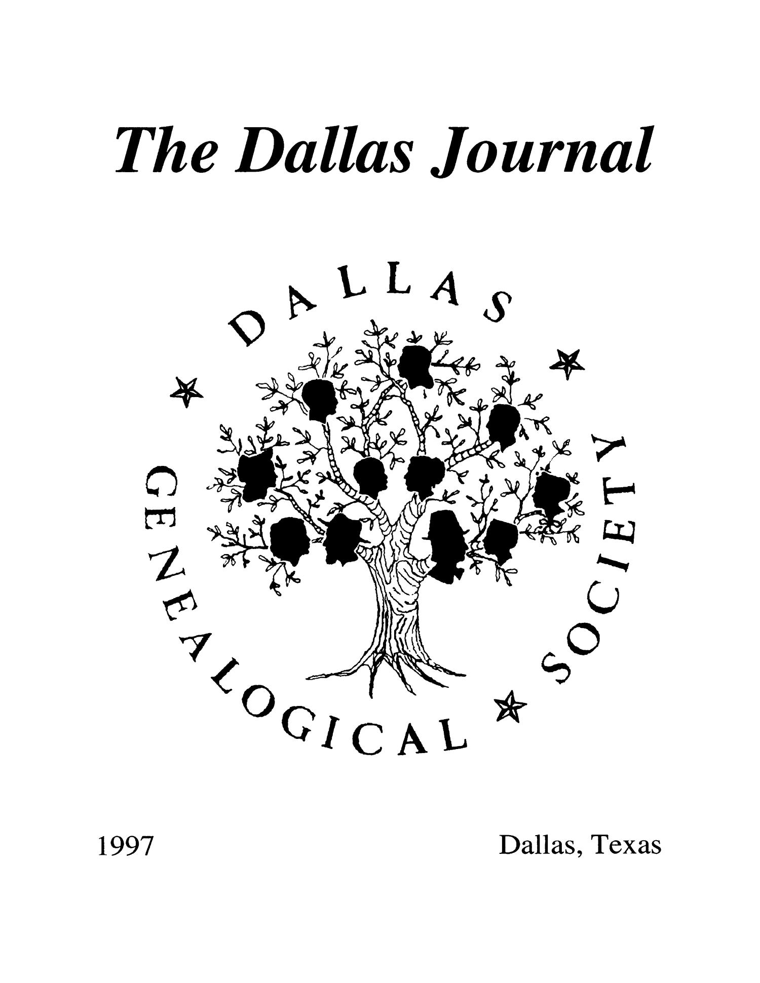 The Dallas Journal, Volume 43, 1997                                                                                                      Front Cover