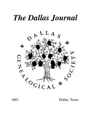 Primary view of object titled 'The Dallas Journal, Volume 43, 1997'.
