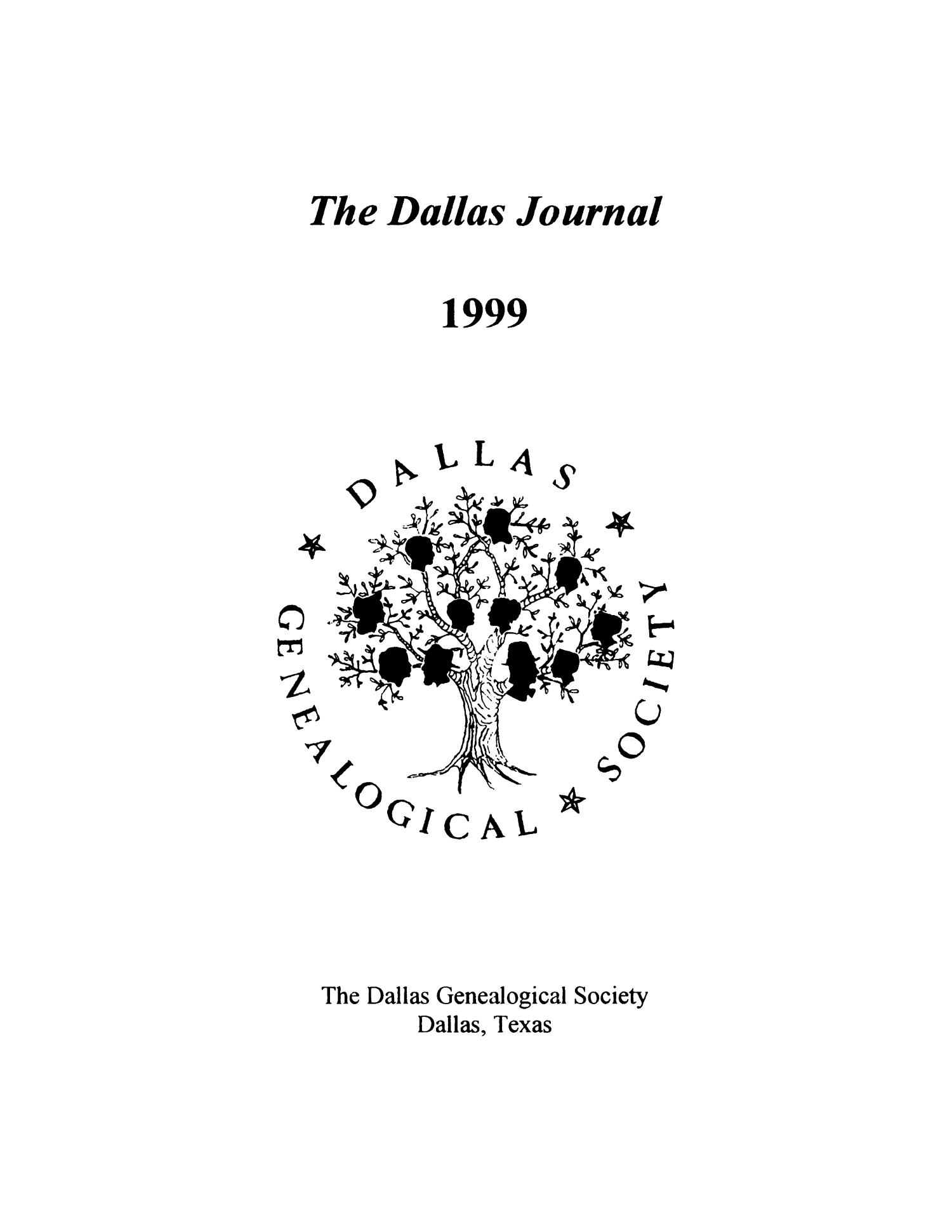 The Dallas Journal, Volume 44, 1999                                                                                                      Title Page
