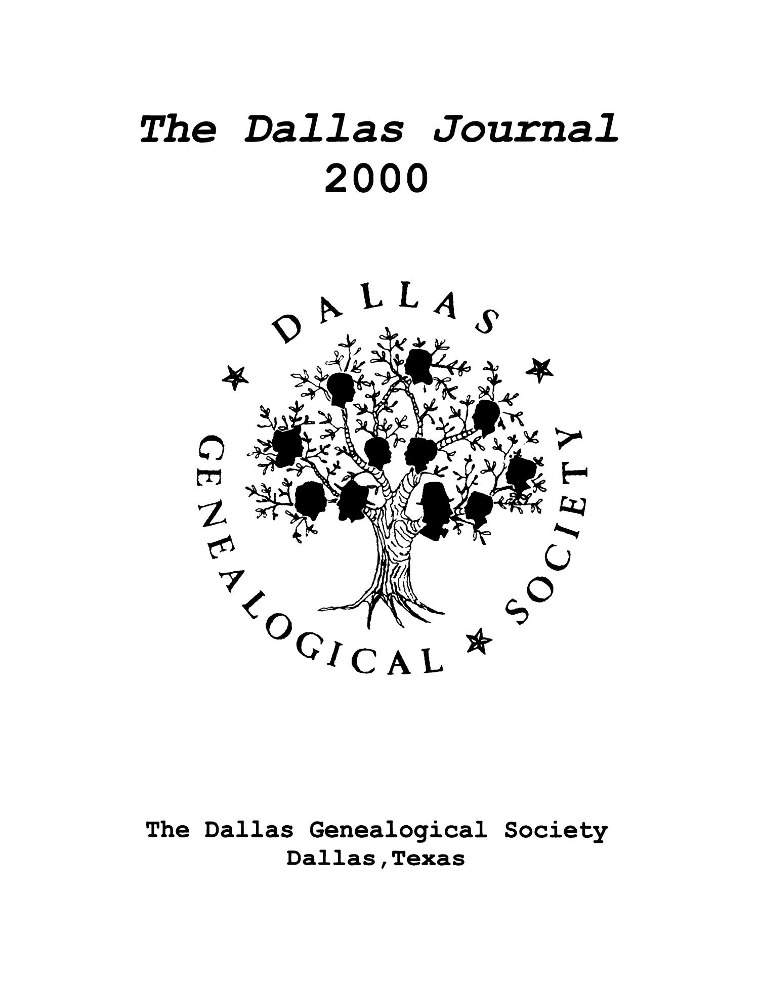 The Dallas Journal, Volume 46, 2000                                                                                                      Title Page