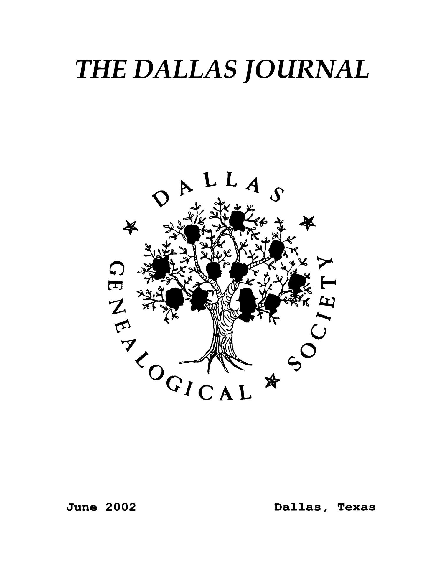 The Dallas Journal, Volume 48, 2002                                                                                                      Front Cover