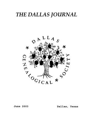 Primary view of object titled 'The Dallas Journal, Volume 49, 2003'.
