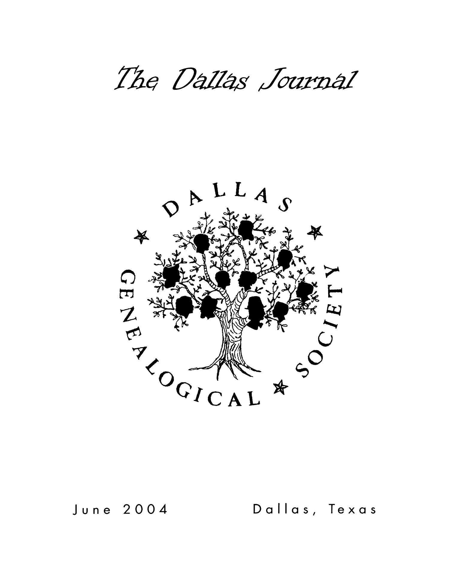 The Dallas Journal, Volume 50, 2004                                                                                                      Front Cover