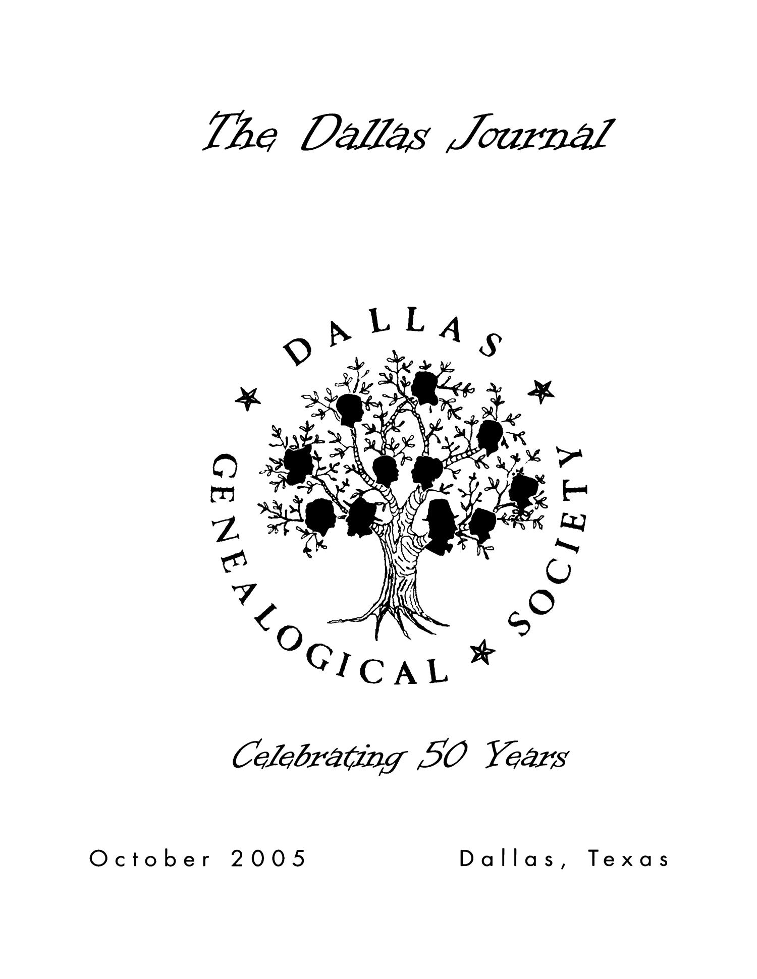 The Dallas Journal, Volume 51, 2005                                                                                                      Front Cover