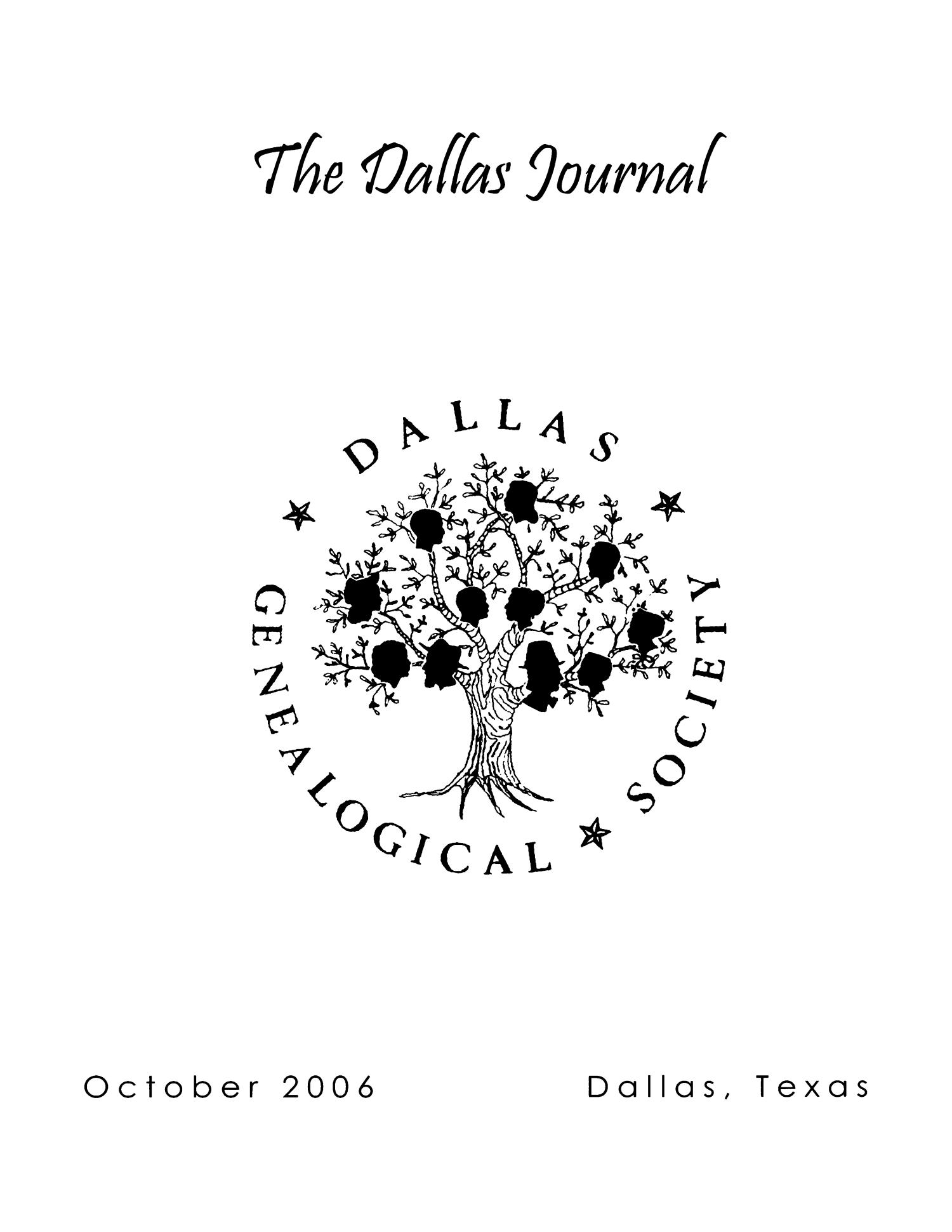 The Dallas Journal, Volume 51, 2006                                                                                                      Front Cover