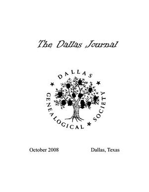 Primary view of object titled 'The Dallas Journal, Volume 54, 2008'.