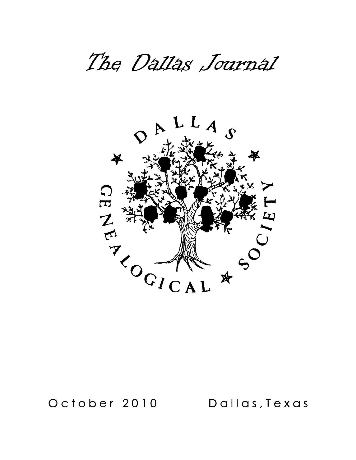 The Dallas Journal, Volume 56, 2010                                                                                                      Front Cover