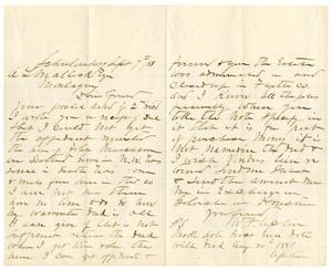 Primary view of object titled '[Letter from William F. Upton to A.L. Matlock, September 7, 188?]'.
