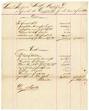 Primary view of object titled '[Accounts Report, December 18, 1880]'.