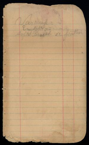 Primary view of object titled '[Account Book, 1904]'.