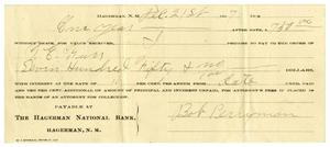 [Check from Bob Perryman to T.E. Gurr, December 21,1907]