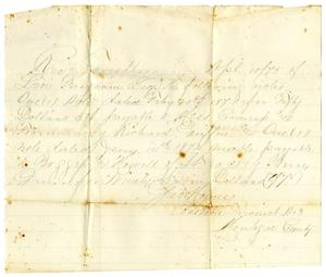 Primary view of object titled '[Receipt from Job Holmes, April 10, 1875]'.